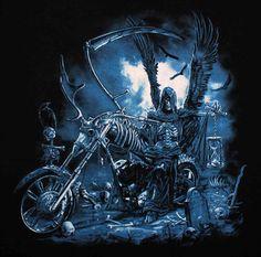grim reaper pictures | Mens Gift Spot | Grim Reaper Biker Singlet