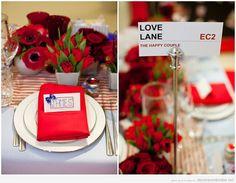 Decoración de mesa de boda estilo british
