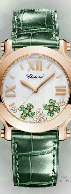 ~Chopard Emerald & Diamond Clover Watch | The House of Beccaria