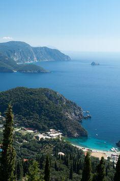 View on Paleokastritsa, Kerkyra (Corfu), Greece