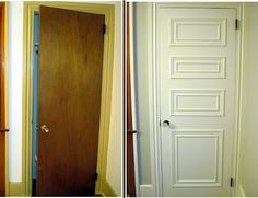 Our Old Abode: Hollow Core Door Makeover I'm doing this to all my doors in my old home.