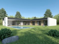 Individual modern Architectural design and concepts. Modern House Facades, Modern House Plans, Modern Architecture, Minimalist House Design, Minimalist Home, Modern House Design, D20 Modern, House Plans With Pictures, House Entrance