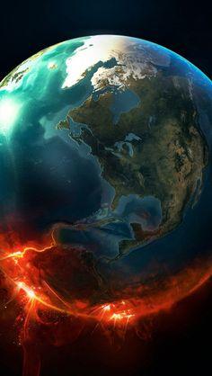 % TİTLE% - Fire Earth Whatsapp Wallpaper - Fire Earth Whatsapp Wallpaper - W . Outer Space Wallpaper, Wallpaper Earth, Planets Wallpaper, Ocean Wallpaper, Galaxy Wallpaper, Wallpaper Samsung, Cellphone Wallpaper, Earth And Space Science, Earth From Space