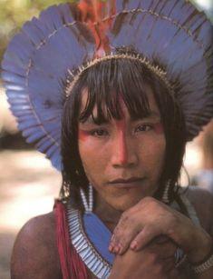 kayapo indian indigenous people of brazil mato grosso and para brazil along rio xingu