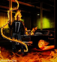 Ghost Rider in Collectibles New Ghost Rider, Ghost Rider Marvel, Ghost Rider Wallpaper, Iron Man Wallpaper, Ghost Rider Pictures, Spirit Of Vengeance, Marvels Agents Of Shield, Black Background Images, Marvel Dc Comics