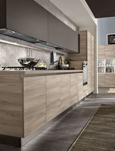 7 Modern Kitchen Cabinets Ideas To Try - Stylish Kitchen Cabinet Ideas Kitchen Room Design, Kitchen Cabinet Design, Kitchen Sets, Home Decor Kitchen, Interior Design Kitchen, Kitchen Layout, Kitchen Walls, Decorating Kitchen, Kitchen Colors