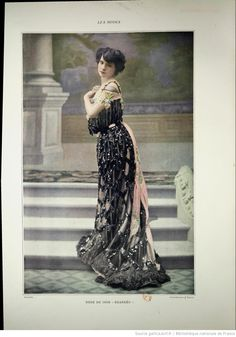 Modes (Paris) 1903  Robe du Soir. Walles -- Wow