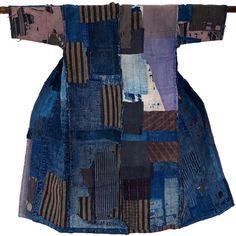 Vintage Japanese Noragi Boro Indigo Jacket Kimono