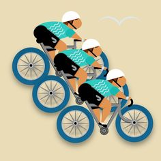 Team Ride #assemblyapp #cycling #cyclingart #bikes #digitalart