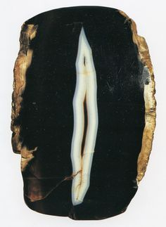 """""""Cleft,"""" onyx, Brazil - Image from The Writing of Stones by Roger Caillois, 1970"""