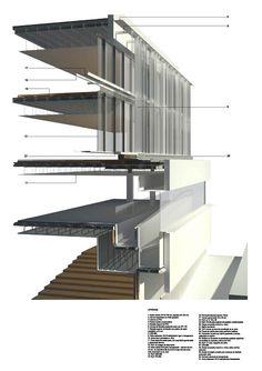 corte perspectivado estructura metalica