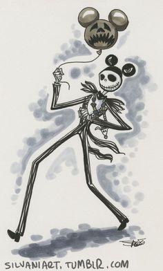 Nightmare Before Christmas is my favorite Halloween movie. Disney Fan Art, Disney Love, Disney Magic, Disney Artwork, Disney Drawings, Jack Y Sally, Imagenes Dark, Jack The Pumpkin King, Tim Burton Art