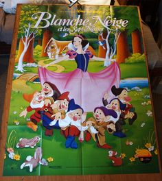 """Excited to share the latest addition to my #etsy shop:  Snow White and The Seven Dwarfs  French Subway Movie Poster """"Blanche-Neige et les Sept Nains""""  RARE Disney             http://etsy.me/2AKELMD"""