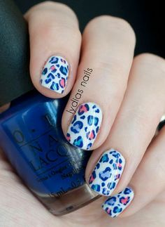 Beauty TrendsSpice up your winter nails with a fun leopard print! Photo via Lydia's Nails