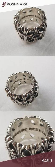 6e37f1ece35b Chrome hearts cemetery This is a chrome hearts classic cemetery ring size 8  gently used no