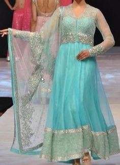 Color Blue Collection Anarkali Salwar Kameez Weight 3 Kg Season Any Occasion Party Wear Art Style Zardosi Work Fabric Net, Taffeta Work Embroidered