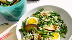 Egg and Rice Salad to Go | Any hearty brown rice or brown-rice blend works well in this salad.