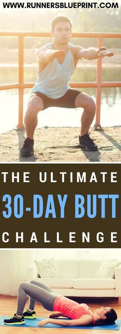 Enter The 30-Day Butt Challenge That's why today, dear reader, to help you kick your butt into shape, I'm sharing with you this awesome 30-day glute challenge. This 30-day butt challenge has roughly 4 to 5 exercises which you have to do each workout day. http://www.runnersblueprint.com/the-30-day-butt-challenge-for-runners/