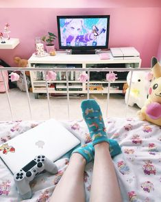 Cute and Kawaii Room Ideas for Your Daughters. Cute and Kawaii Room Ideas. The room is the most comfortable and private place in the world. In the room we can do our favorite activities from sleepi. Dream Rooms, Dream Bedroom, Girls Bedroom, Bedroom Decor, Bedrooms, Bedroom Ideas, Bedroom Vintage, Kawaii Bedroom, Gaming Room Setup
