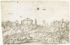 Gerard ter Borch (I) | Gezicht op de San Stefano Rotondo, Rome, vanuit het noorden, Gerard ter Borch (I), 1609 |