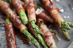 Grilled asparagus wrapped in prosciutto or capocollo -   mmmmm!