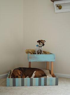 DIY Shipping Pallet Dog Bed