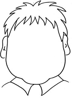 FUN - printable coloring page - blank face, fun for toddlers to draw in the face