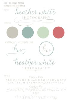 b is for bonnie design: Heather White Photography Branding Board