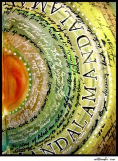 art journaling - beautiful mandala.