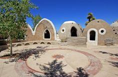 CalEarth -- Emergency Shelter Village, Hesperia, California.  Iranian born…