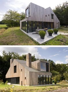 The wood siding is awesome, and I love the little farm house shapes and forms.