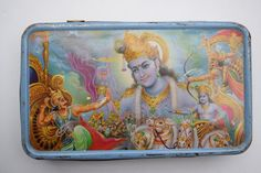 Vintage Old Sweets Tin Box, Rare Collectible Litho Printed Tin Boxes India #1431