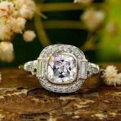 7.00 MM Old Mine Cut Diamond Set Ring - Antique Wedding Bridal Ring - Edwardian Jewelry - Ring For Mom - Art Deco Retro Ring For Women by DiamondJewels99 on Etsy