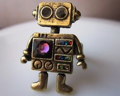 Robot Ring from Love Spell Jewels Etsy store. Awesome!!