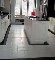 gray ceramic tile kitchen floor designs | fabulous flooring
