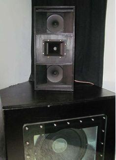 Sat-Lautsprecher mit 2 Visaton BG20 mit vorgesetztem Waveguide und HTH8.7.