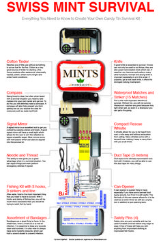 Altoids Tin Projects: The Homemade Survival Kit - making one of these for Father's Day this year! ○ via clever survivalist
