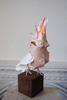 Escultura. Animales en papel de ANNA-WILI HIGHFIELD : ColectivoBicicleta | Revista digital /Artes visuales. ilustración y diseño Colombia y Latinoamerica