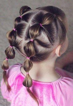 Прически для любимых дочек с помощью резиночек