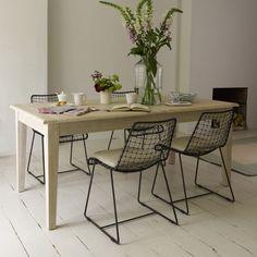 Bayonne Kitchen Table With Geronimo Gunmetal Chairs