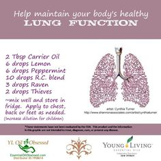 Young Living Essential Oils: Lungs Raven and R.C. essential oil blends | EssentialOilObsessed.com. support Healthy lung function. Lemon, peppermint, R.C., Raven, thieves
