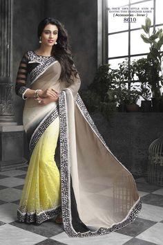 Buy Grey Georgette Designer Saree Online in low price at Variation. Huge collection of Designer Sarees for Wedding. #designer #designersarees #sarees #onlineshopping #latest #lowprice #variation. To see more - https://www.variationfashion.com/collections/designer-sarees