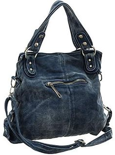 Amazon.com: Blue Fade-Wash ''Tasseled Zip'' Crossbody Convt. Tote Bag: Shoes Bag Jeans, Denim Tote Bags, Denim Purse, Jean Purses, Purses And Bags, Diy Bags Patterns, Tote Backpack, Quilted Bag, Handmade Bags