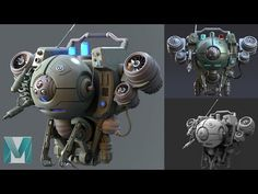 Hard Surface Production Modeling and Rendering - Drone Tutorial Preview - YouTube