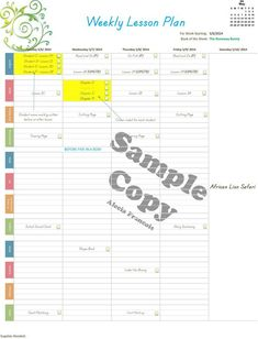 lesson plan template Plan it! Weekly Homeschool Planner (100% customizable! Everything can be changed!)