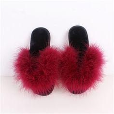 Women Flip Flops Shoes Comfortable Fur Slippers indoor Shoes Wool Slipper Home Footwear Flat Heel Fashion House Slippers