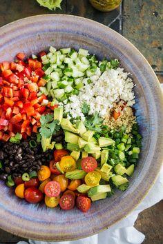 Black Bean Quinoa Salad with Lime Vinaigrette