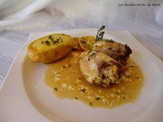 Las Recetas Fáciles de María: Contramuslos de Pollo con Jamón al Limón