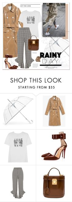 """""""#rainyday"""" by stylemeup-649 ❤ liked on Polyvore featuring ShedRain, AlexaChung, Christian Louboutin, River Island and Mark Cross"""