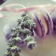 Lavender:  #Lavender macarons.